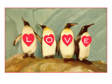 Four Emperor Penguins, LOVE Art