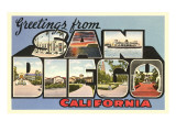 Greetings from San Diego, California Print