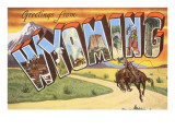 Greetings from Wyoming Print