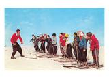 Ski Lesson Kunstdrucke