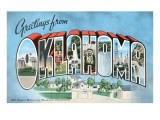 Greetings from Oklahoma Print