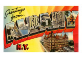 Greetings from Albany, New York Print