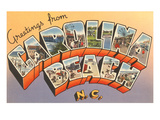 Greetings from Carolina Beach, North Carolina Print