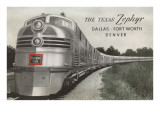 Texas Zephyr, Streamlined Train Posters