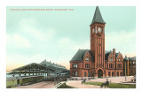Train Depot, Milwaukee, Wisconsin Prints