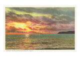 Sunset off Point Poma, San Diego, California Posters