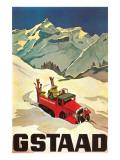 Ski Patrol Gstaad Schilderij