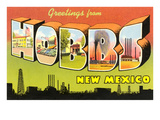 Greetings from Hobbs, New Mexico Prints