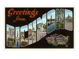 Greetings from Richmond, Virginia Posters
