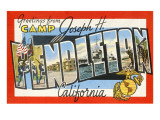 Greetings from Camp Pendleton, California Prints