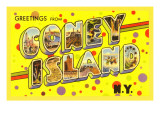 Greetings from Coney Island, New York Prints