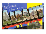 Greetings from Albany, New York Prints