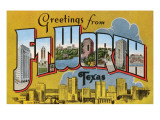 Greetings from Ft. Worth, Texas Print