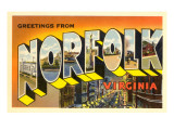 Greetings from Norfolk, Virginia Print