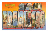 Greetings from San Francisco, California Print