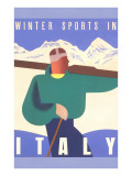 Winter Sports in Italy Art