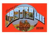Greetings from Crater Lake, Oregon Print