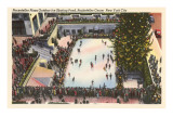 Skating Rink, Rockefeller Center, New York City Art