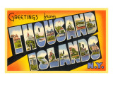 Greetings from Thousand Islands, New York Art