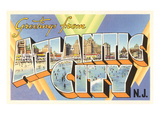 Greetings from Atlantic City, New Jersey Art