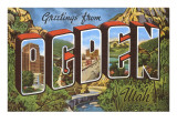 Greetings from Ogden, Utah Poster