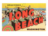 Greetings from Long Beach, Washington Poster