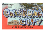 Greetngs from Oklahoma City, Oklahoma Poster