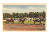 Horse Race, Saratoga Springs, New York Plakat