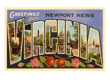 Greetings from Newport News, Virginia Prints