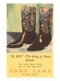 El Rey Tony Loma Cowboy Boots Impresso gicle
