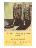 El Rey Tony Loma Cowboy Boots Prints