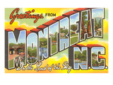 Greetings from Montreat, North Carolina Posters