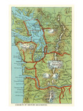 Map of Western Washington Prints