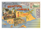Postcard Folder, Beautiful Jamaica Prints