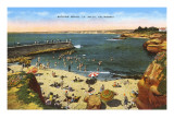 Strand, Bucht, La Jolla, Kalifornien Kunstdrucke