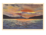 Sunrise on Lake George, New York Prints