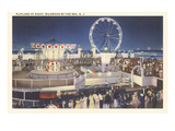Night, Amusement Park, Wildwood-by-the-Sea, New Jersey Prints