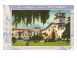 Greetings from Santa Barbara, California, Courthouse Prints