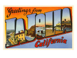 Greetings from La Jolla, California Posters