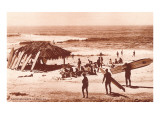 Wellenreiter bei Windandsea Beach, Kalifornien Kunstdruck