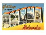 Greetings from Omaha, Nebraska Prints