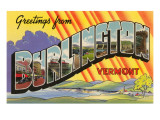 Greetings from Burlington, Vermont Prints