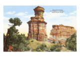 Lighthouse Rock, Palo Duro Park, Texas Posters