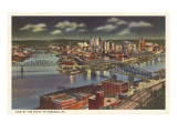 Nacht über dem Point, Pittsburgh, Pennsylvania Kunstdrucke