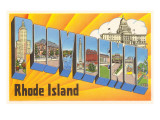 Providence, Rhode Island, Large Letters Posters