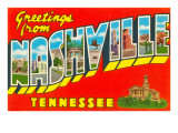 Greetings from Nashville, Tennessee Prints