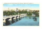 Richmond Skyline, James River, Virginia Posters