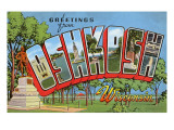 Greetings from Oshkosh, Wisconsin Posters