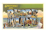 Grüße aus Rhode Island Poster