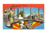 Greetings from Columbia, South Carolina Prints